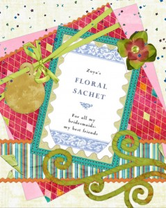 Floral Sachet Wedding Favors by Wedding Air Fresheners