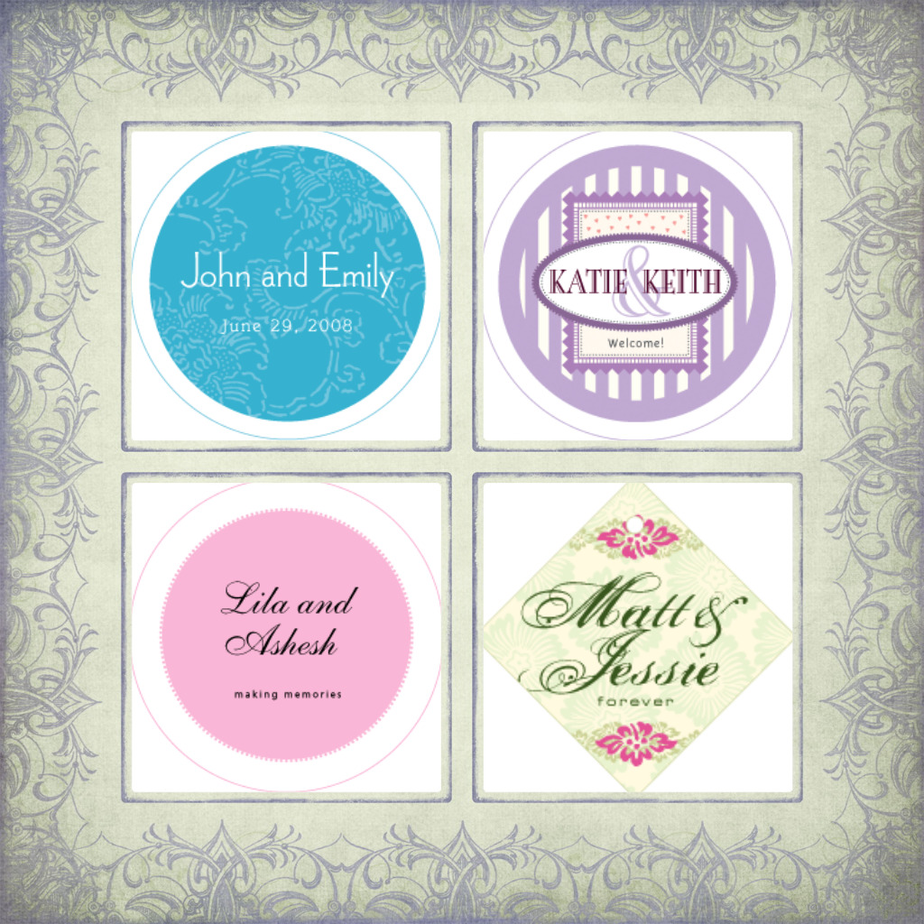 Round Wedding Fresheners by Wedding Air Fresheners.com